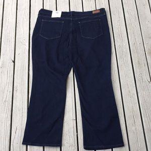Lands end size 18 jeans petite bootcut dark wash